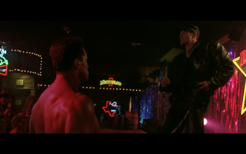 Budweiser and Michelob Neon Signs in Terminator 3 Rise of the Machines