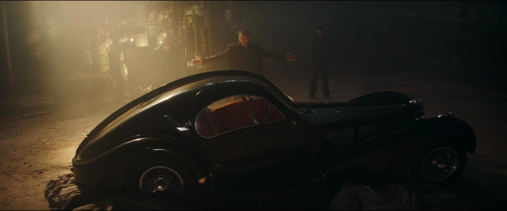 Range Rover Suv >> Bugatti Type 57 S Atlantic Car in Overdrive (2017) Movie