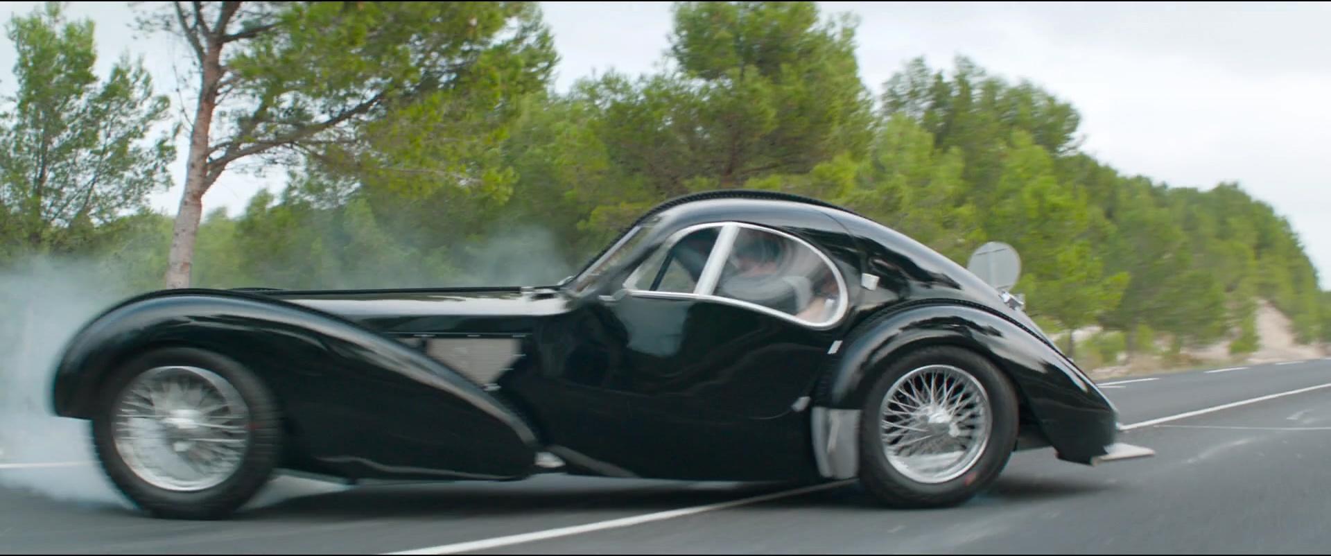 Latest Cadillac Escalade >> Bugatti Type 57 S Atlantic Car in Overdrive (2017) Movie Scenes