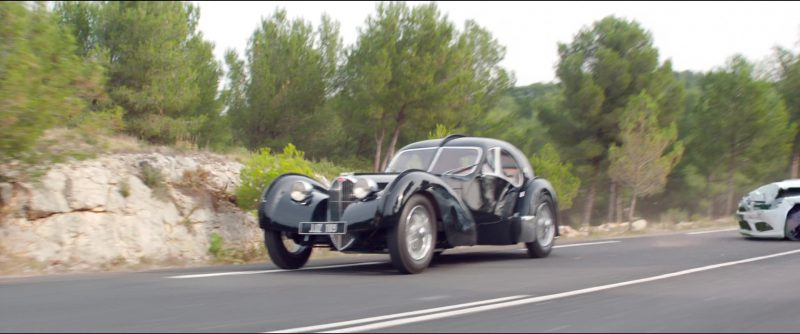 Bugatti Type 57 S Atlantic Car in Overdrive (2017) - Movie Product Placement