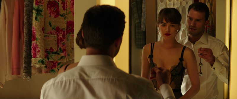 Embroidered Callie Basque from Agent Provocateur Corset Worn by Dakota Johnson (Anastasia Steele) in Fifty Shades Darker (2017) - Movie Product Placement