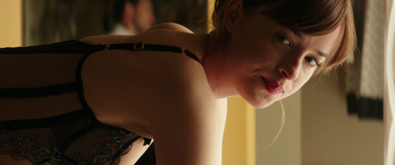 Embroidered Callie Basque from Agent Provocateur Corset Worn by Dakota Johnson (Anastasia Steele) in Fifty Shades Darker (2017) Movie Product Placement
