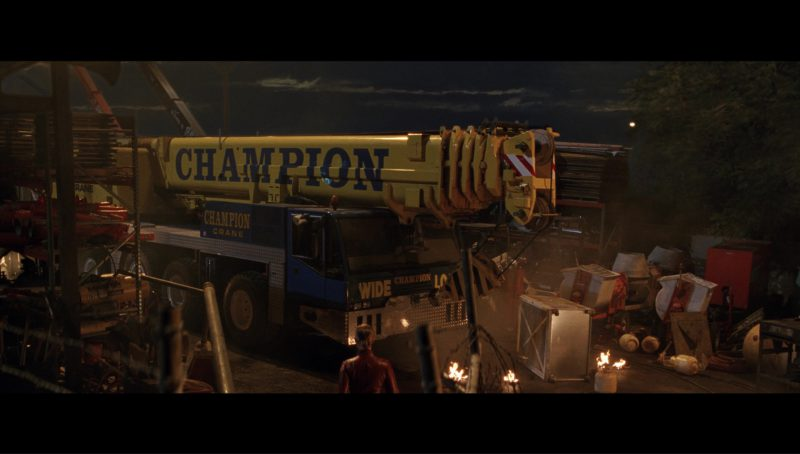 Champion Crane Driven by Kristanna Loken (T-X) in Terminator 3: Rise of the Machines (2003) - Movie Product Placement