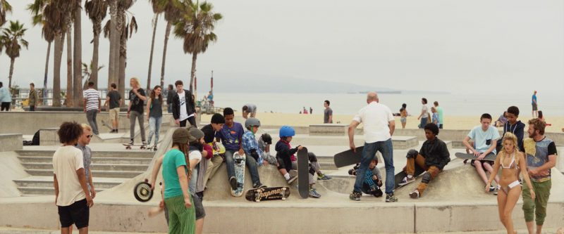 Chapman Skateboards in Once Upon a Time in Venice (2017) Movie Product Placement