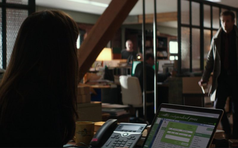 Cisco Phone and Apple MacBook Laptop Used by Dakota Johnson (Anastasia Steele) in Fifty Shades Darker