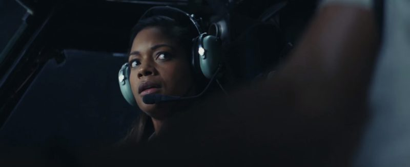 David Clark Aviation Headsets Used by Naomie Harris in Rampage (2018) Movie Product Placement