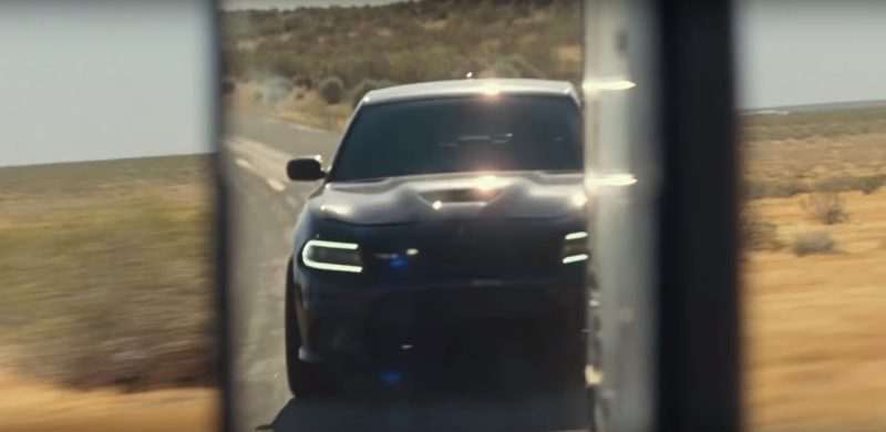 Dodge Charger SRT Black Car in Roman J. Israel, Esq. (2017) Movie Product Placement