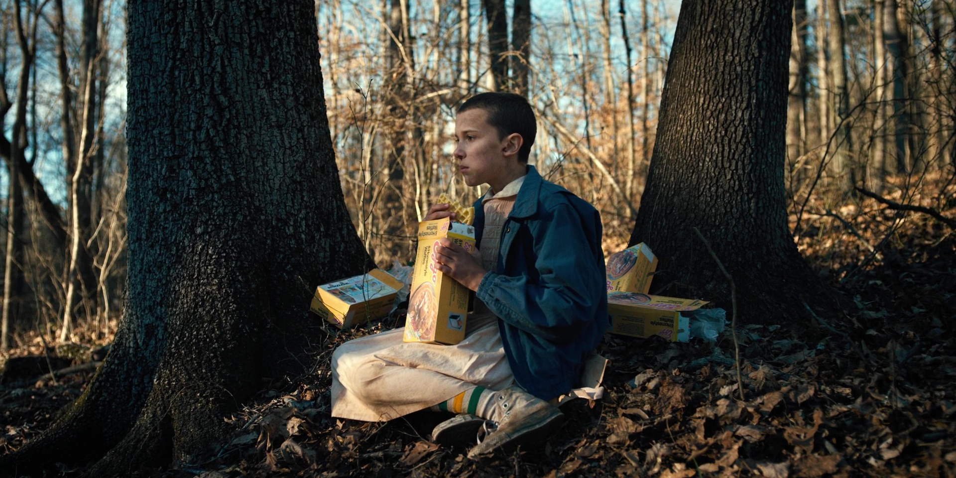 Eggo Waffles Held By Millie Bobby Brown Eleven In