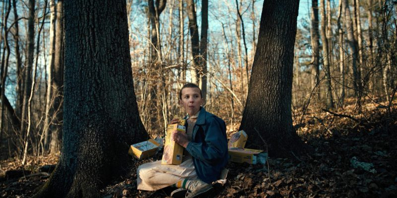 Eggo Waffles Held by Millie Bobby Brown (Eleven) in Stranger Things: The Monster (2016) - TV Show Product Placement