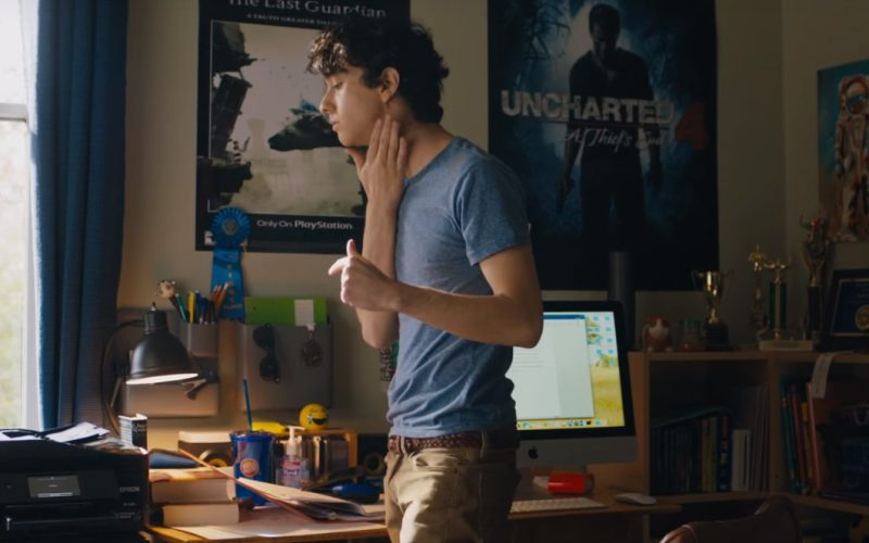 Epson Printer and Apple iMac Computer Used by Alex Wolff in Jumanji Welcome to the Jungle