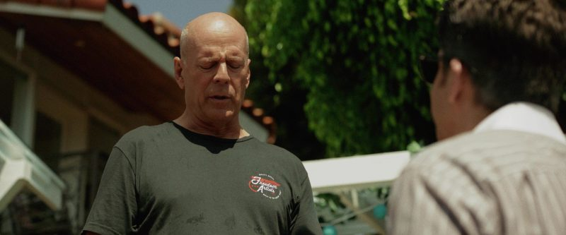 Freedom Artists T-Shirt Worn by Bruce Willis in Once Upon a Time in Venice (2017) - Movie Product Placement