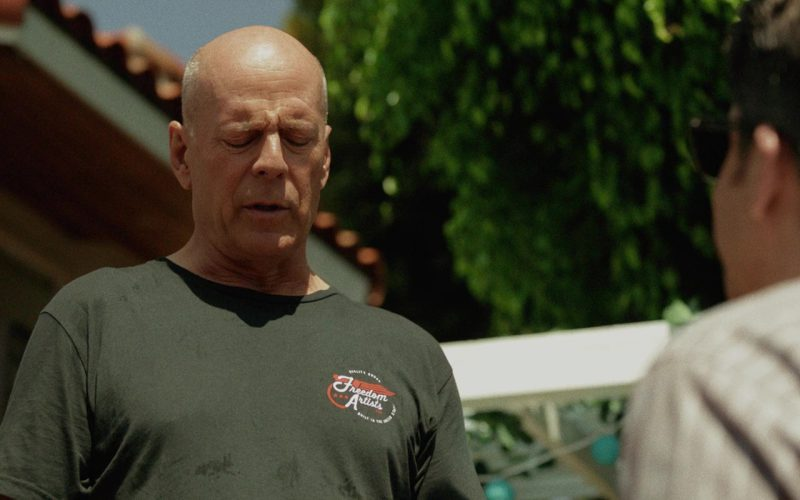 Freedom Artists T-Shirt Worn by Bruce Willis in Once Upon a Time in Venice (4)