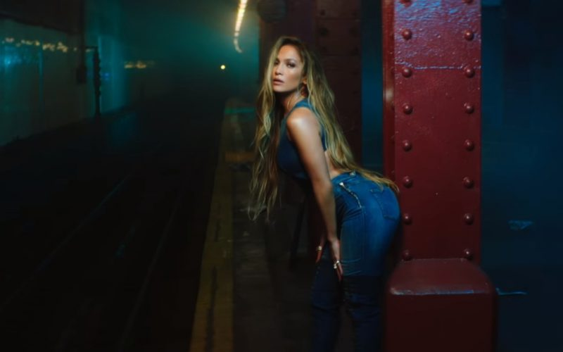 Guess Denim Jumpsuit Worn by Jennifer Lopez in Amor, Amor, Amor (2)