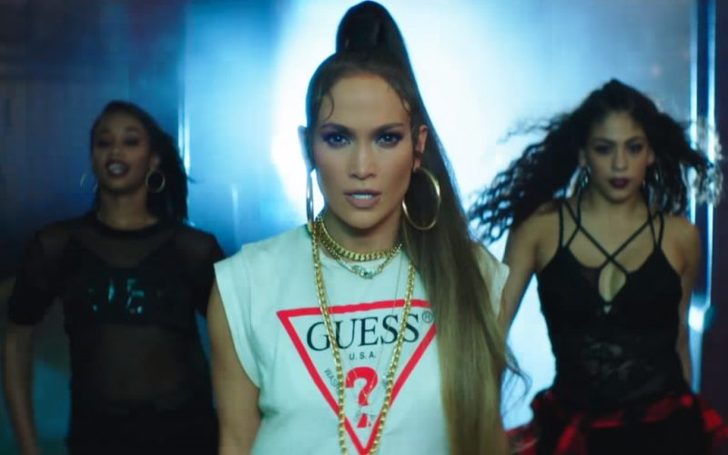 Guess T-Shirt Worn by Jennifer Lopez in Amor, Amor, Amor (7)