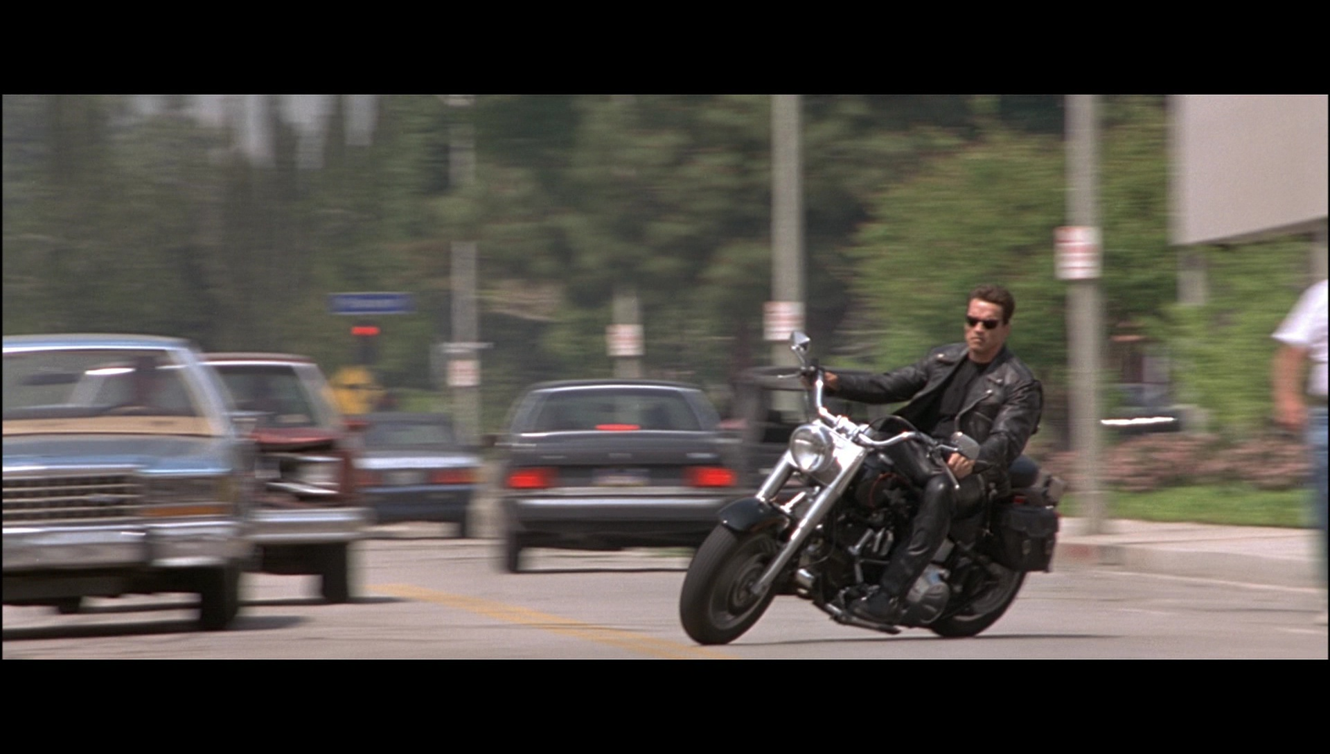 Harley Davidson Motorcycle Driven By Arnold Schwarzenegger