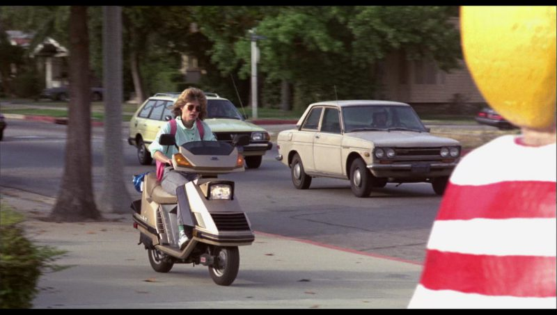 Honda Elite Scooter Driven by Linda Hamilton (Sarah Connor) in The Terminator (1984) Movie Product Placement