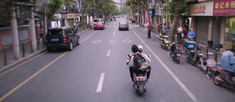 Honda Scooter (Pink) in S.M.A.R.T. Chase (2017) Movie Product Placement