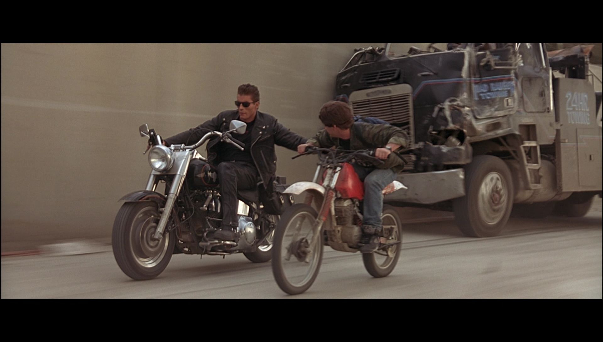 Honda Xr Motorcycle Driven By Edward Furlong John Connor In Terminator on Honda Xr 100