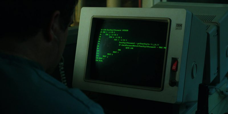 IBM Computer Used by Sean Astin (Bob Newby) in Stranger Things: The Mind Flayer (2017) TV Show Product Placement