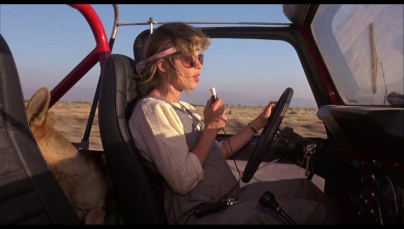 Red Jeep CJ-7 Renegade Car Driven by Linda Hamilton (Sarah Connor) in The Terminator (1984) Movie Product Placement