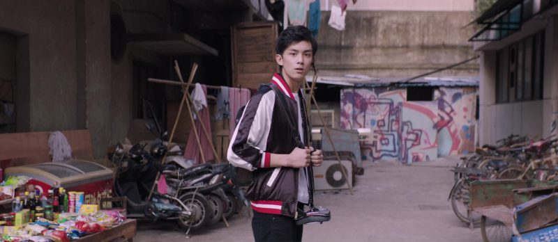 Joyrich Jacket Worn by Lei Wu in S.M.A.R.T. Chase (2017) Movie Product Placement
