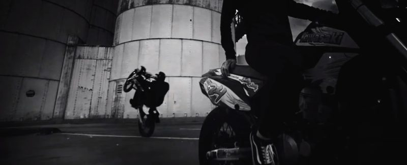 Kawasaki Motorcycle And Vans Men's Shoes in Wake Me Up by Remy Ma ft. Lil' Kim (2017) - Official Music Video Product Placement