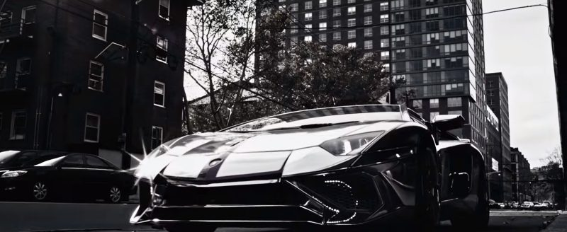 Lamborghini Aventador Sports Car in Wake Me Up by Remy Ma ft. Lil' Kim (2017) Official Music Video Product Placement