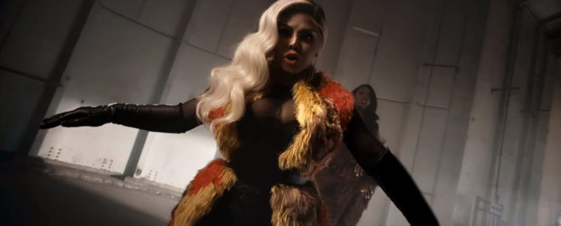 AQUAZZURA Dorado Boots, Gucci Belt and Versace Gloves  Worn by Lil' Kim in Wake Me Up by Remy Ma (2017) Official Music Video Product Placement