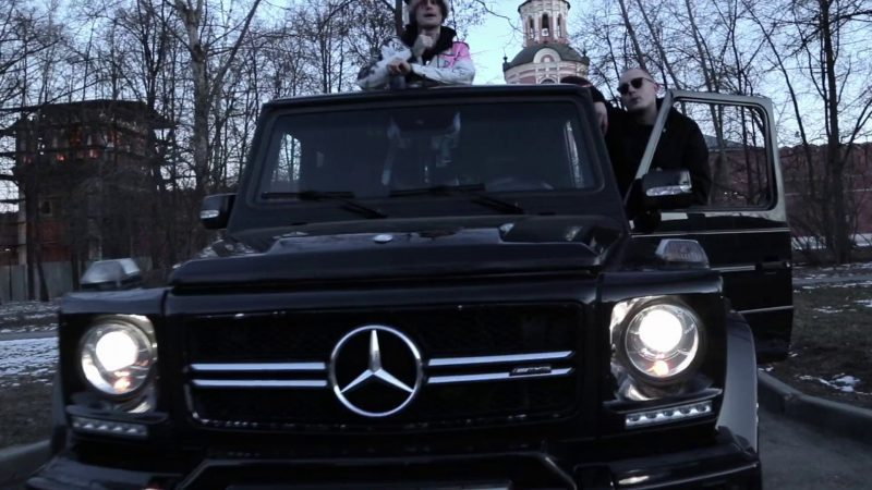 Mercedes-Benz Gelandewagen G63 Black Car in Benz Truck by Lil Peep (2017) - Official Music Video Product Placement