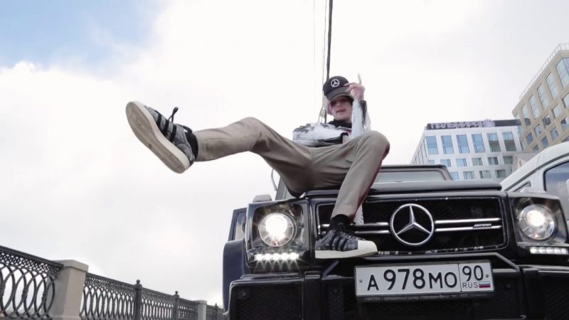 Mercedes-Benz Gelandewagen G63 Black Car in Benz Truck by Lil Peep (2017) Official Music Video Product Placement