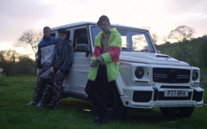 Mercedes Brabus Gelandewagen (G-Class) White Car in Benz Truck by Lil Peep (11)