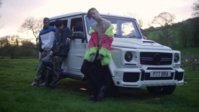 Mercedes G Class Suv >> Mercedes Brabus Gelandewagen (G-Class) White Car in Benz Truck by Lil Peep (2017) Official Music ...