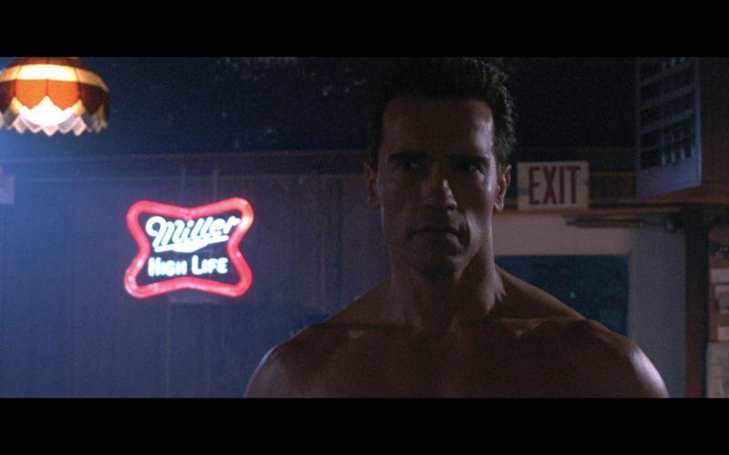 Miller Beer Neon Sign in Terminator 2
