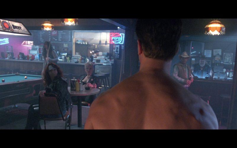 Miller Lite Beer and Pepsi Neon Signs in Terminator 2