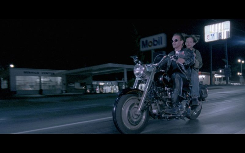 Mobil And Harley-Davidson Motorcycle Used by Arnold Schwarzenegger in Terminator 2