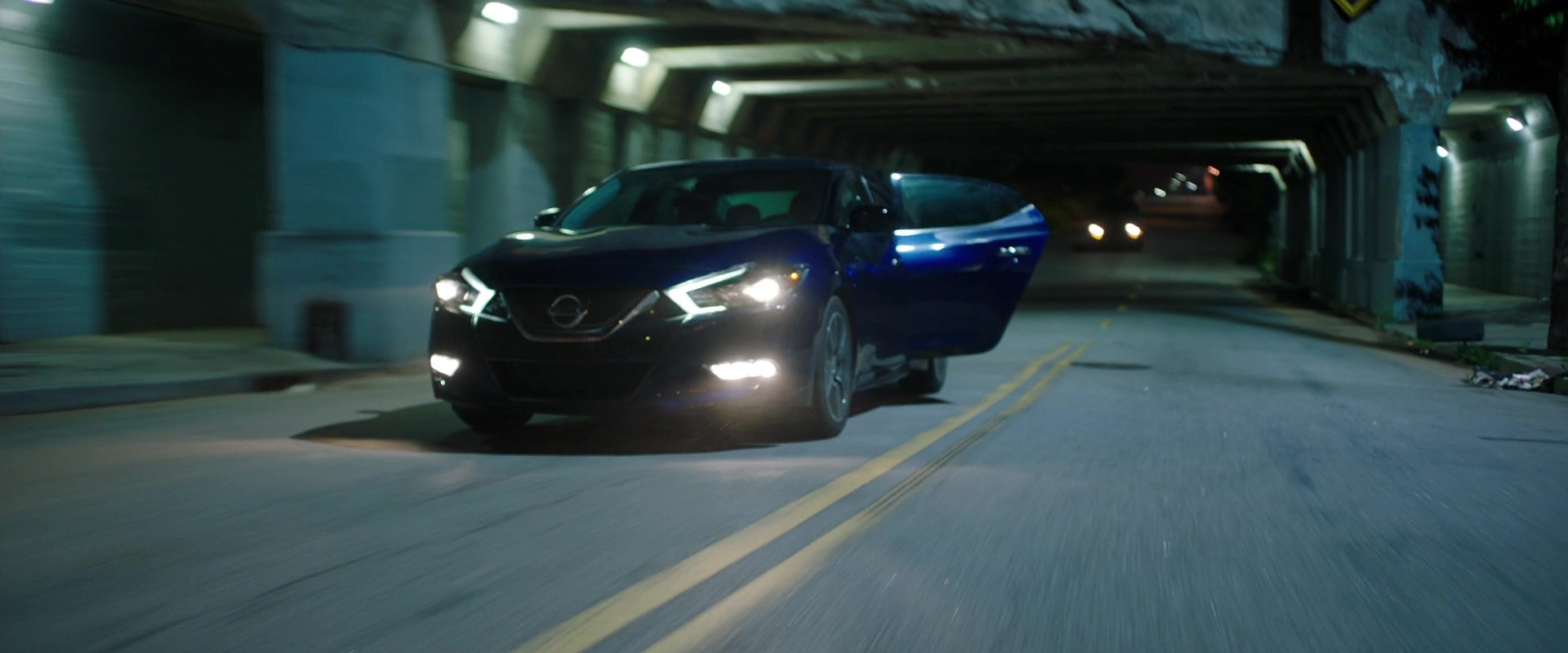 Nissan Maxima (Blue) Car in Game Night (2018) Movie