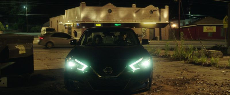 Nissan Maxima (Blue) Car in Game Night (2018) - Movie Product Placement