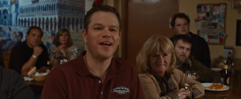 Omaha Steaks Shirts Worn by Matt Damon in Downsizing (2017) - Movie Product Placement