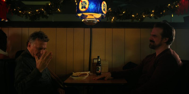Pabst Beer Bottle And Lamp in Stranger Things: The Gate (2017) TV Show Product Placement