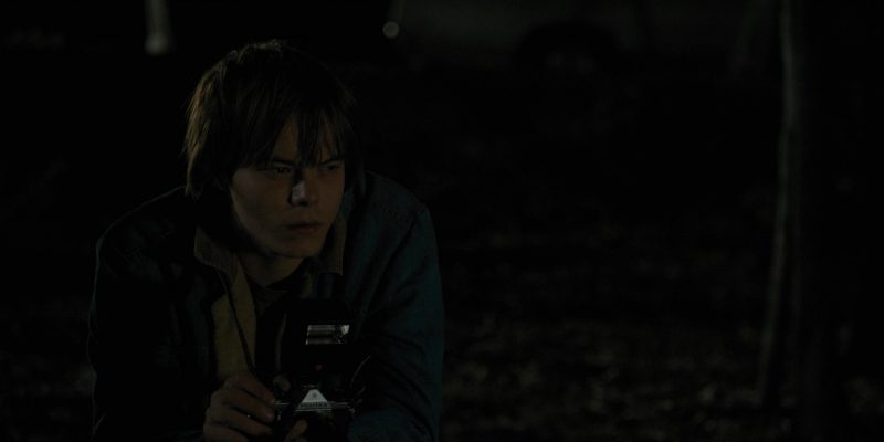 Pentax Photo Camera Used by Charlie Heaton (Jonathan) in Stranger Things: The Weirdo on Maple Street (2016) TV Show Product Placement