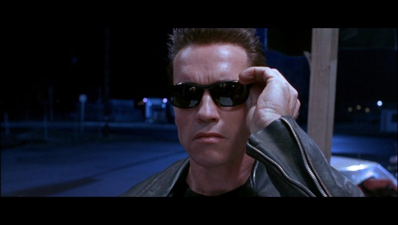 Persol Ratti 58230 Sunglasses Worn by Arnold Schwarzenegger in Terminator 2: Judgment Day (1991) - Movie Product Placement