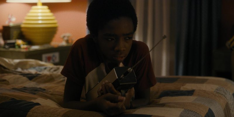 REALISTIC Radio Used by Caleb McLaughlin (Lucas) in Stranger Things: The Vanishing of Will Byers (2016) - TV Show Product Placement