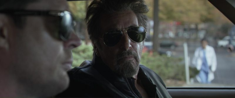 Ray-Ban Sunglasses Worn by Al Pacino in Hangman (2017) - Movie Product Placement