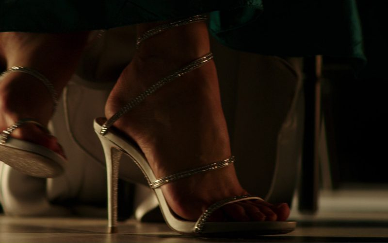 Rene Caovilla 'snake' Strass Pavé Spring Coil Anklet Sandals by Dakota Johnson (Anastasia Steele) in Fifty Shades Darker (1)