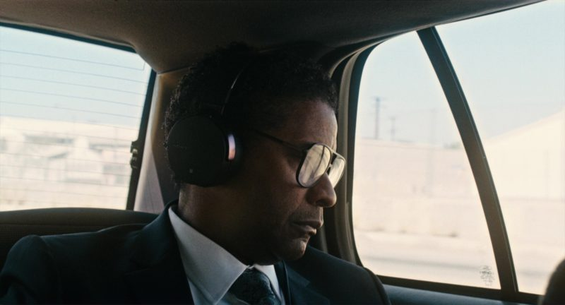 Sony Headphones Used by Denzel Washington in Roman J. Israel, Esq. (2017) - Movie Product Placement