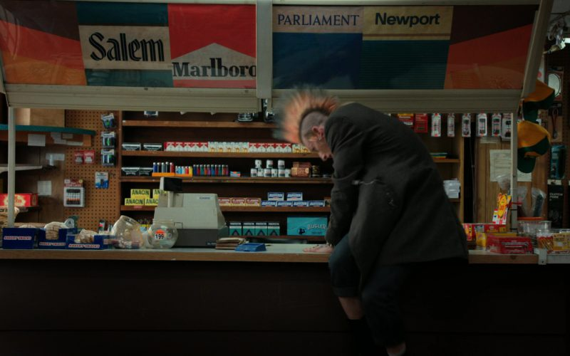 Salem, Marlboro, Parliament, Newport Cigarettes and Mickey's Sign in Stranger Things