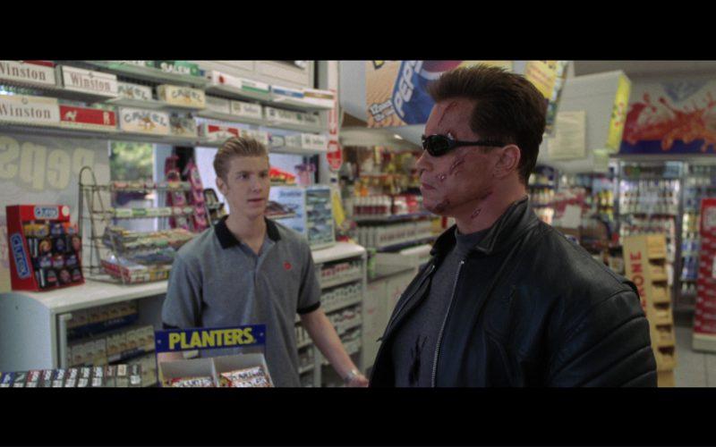 Salem, Winston, Camel, Marlboro, Durex Condoms, Planters Bars, Pepsi, Toblerone Chocolate in Terminator 3 (1)
