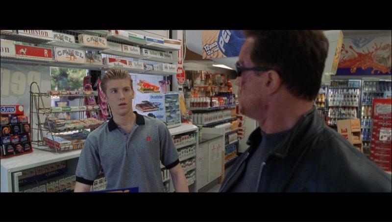 Salem, Winston, Camel, Marlboro, Durex Condoms, Planters Bars, Pepsi, Toblerone Chocolate in Terminator 3: Rise of the Machines (2003) - Movie Product Placement