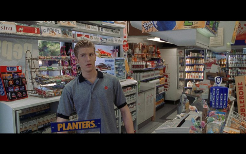 Salem, Winston, Camel, Marlboro, Durex, Planters, Toblerone, Smint, Dasani, Dentyne in Terminator 3 Rise of the Machines