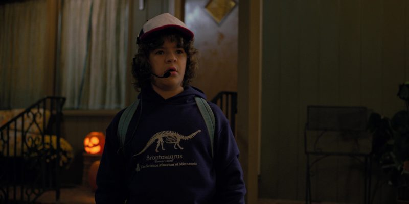 "Science Museum of Minnesota ""Brontosaurus"" Hoodie Worn by Gaten Matarazzo in Stranger Things: Madmax (2017) TV Show Product Placement"